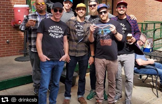 central standard brewing employees with award winning brew in wichita kansas