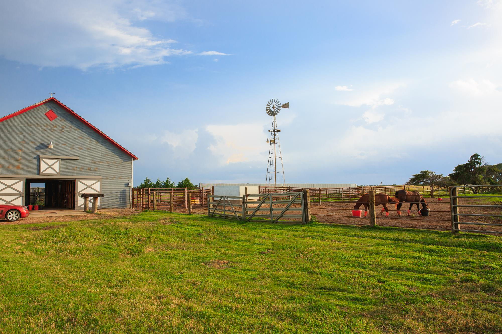 life in rural wichita, kansas with horses and barn