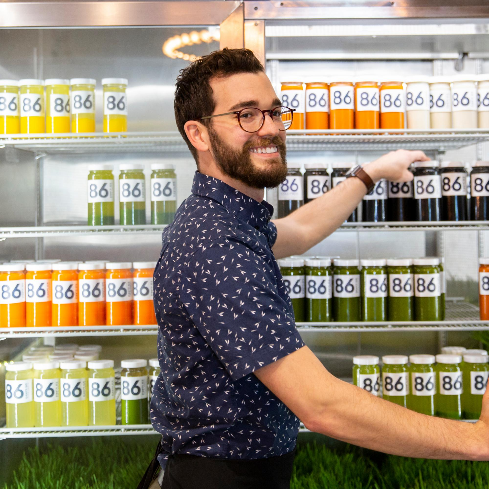 founder of 86 cold press juice in wichita, kansas